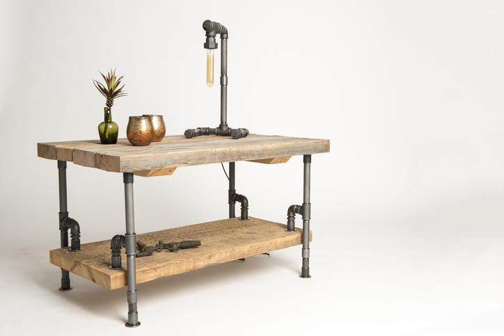 Inredningsrör se Unika möbler av rör och ledningar, allt till ditt projekt!
